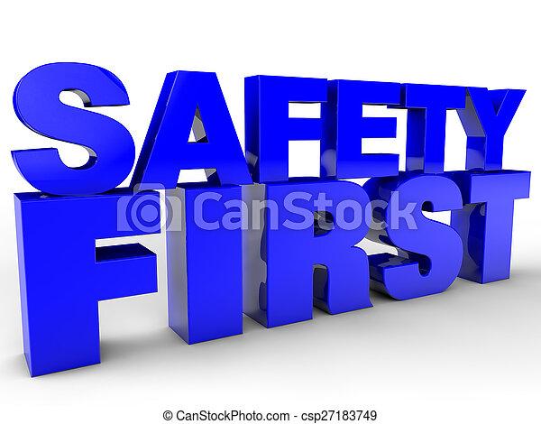 La seguridad primero - csp27183749