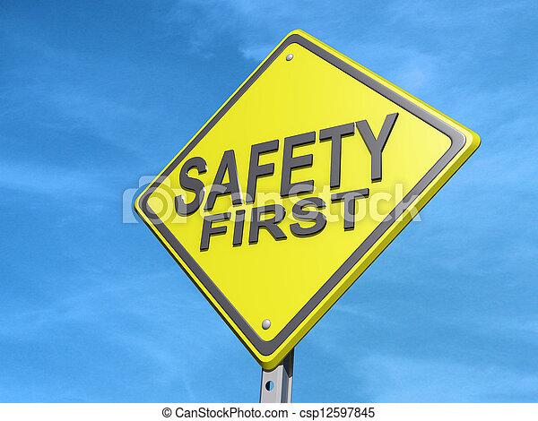 La primera señal de seguridad - csp12597845