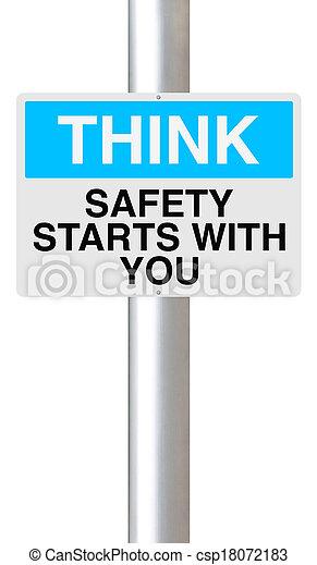 La seguridad comienza contigo - csp18072183