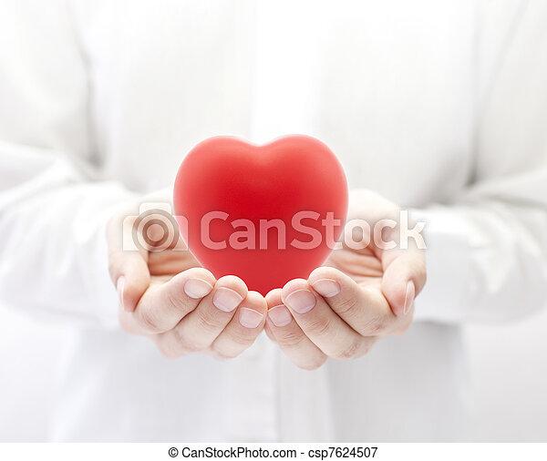 Seguro de salud o concepto de amor - csp7624507