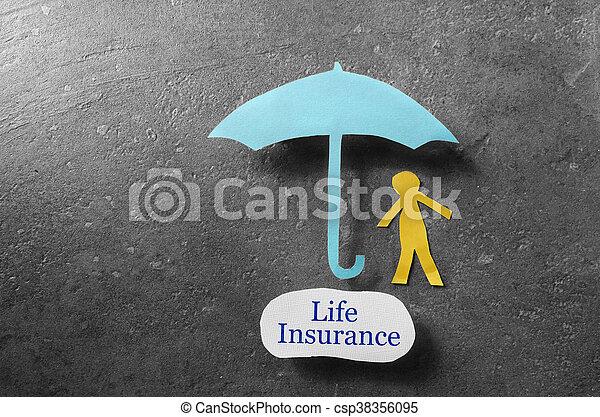 La cobertura del seguro de vida - csp38356095