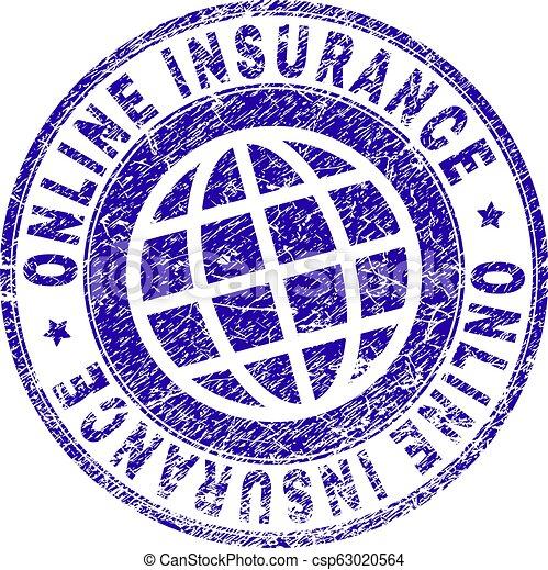 Sello de sello de sellos de seguridad del Grunge - csp63020564
