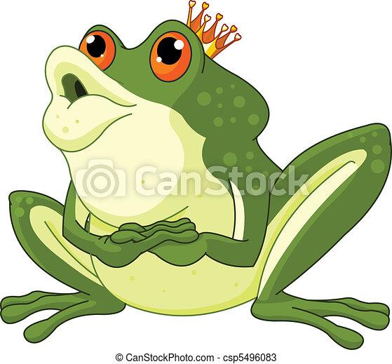 Príncipe rana esperando ser besado - csp5496083