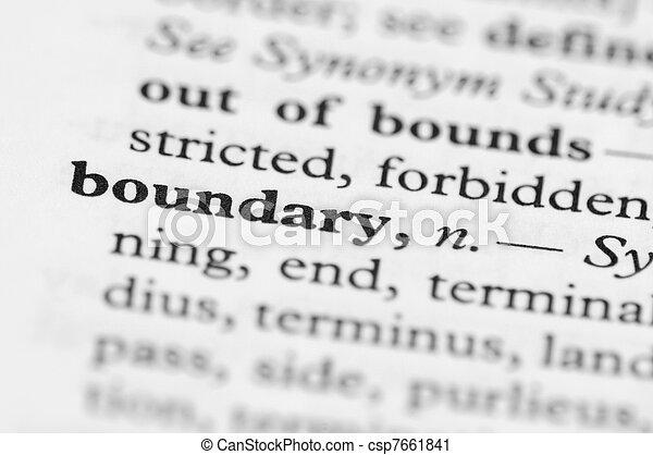 Serie Diccionaria, límite - csp7661841