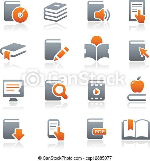 iconos de libros / series grafitas - csp12885077