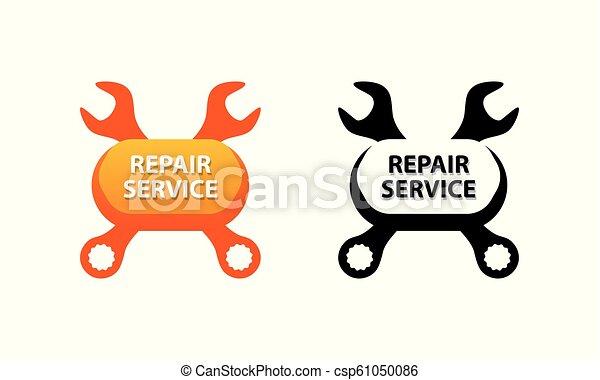 Servicio de reparación, vector de símbolo de la decoración del negocio de coches. - csp61050086