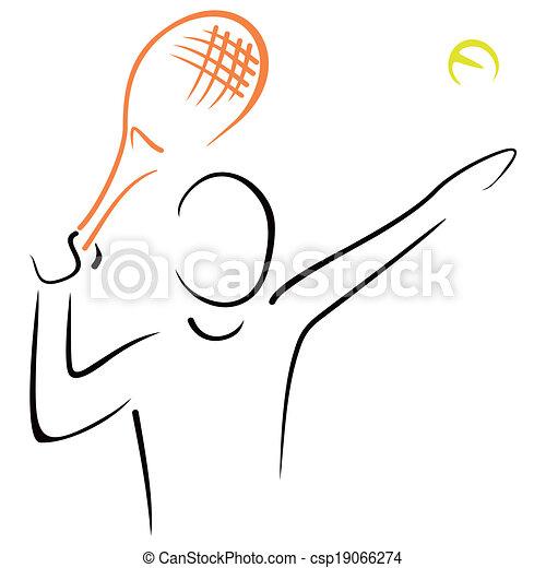 Sirve el tenis - csp19066274
