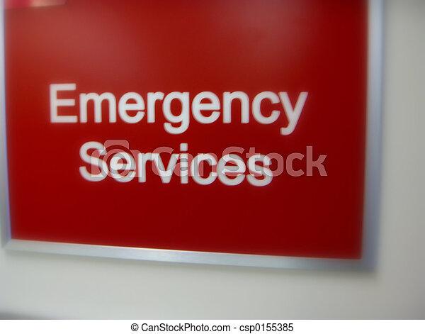 Señal de servicios de emergencia - csp0155385