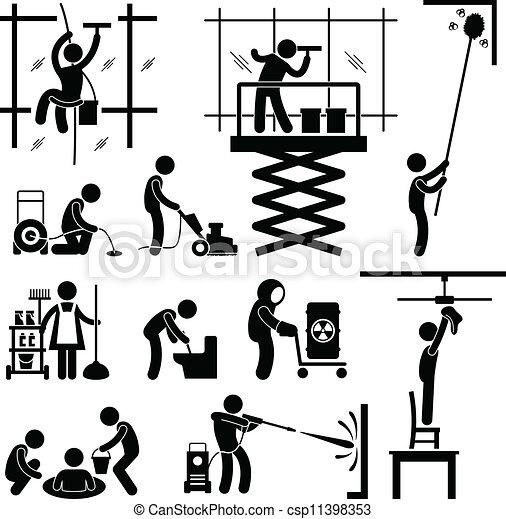 Trabajo de limpieza industrial - csp11398353