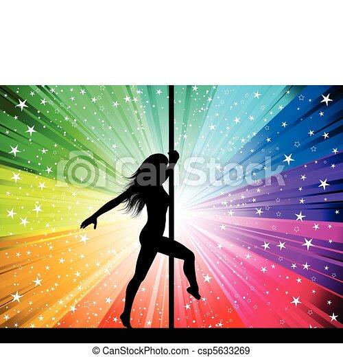 Una bailarina sexy - csp5633269
