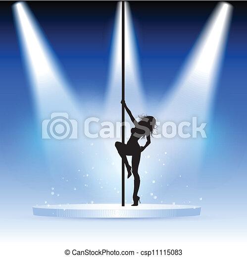 Una bailarina sexy - csp11115083