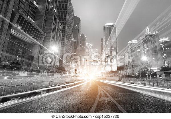 Shangai lujiazui financia la zona comercial de la ciudad moderna - csp15237720