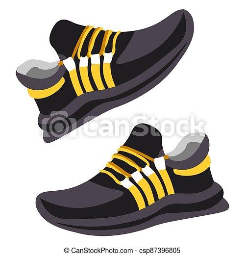 shoes, moderno, entrenamiento, par, diseño, zapatillas - csp87396805