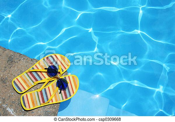 Zapatos por piscina - csp0309668