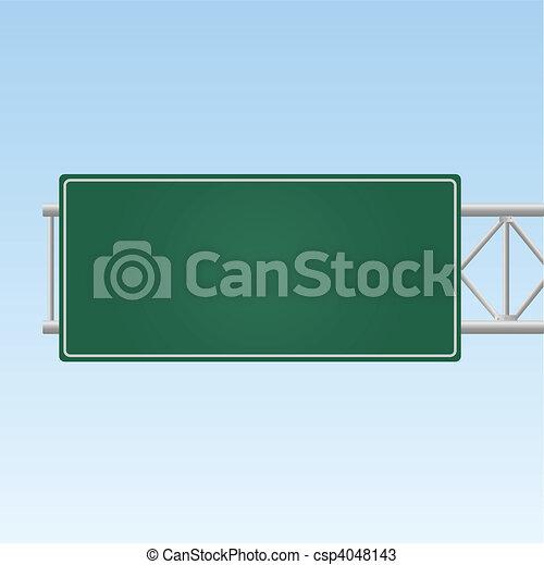Signo de autopista - csp4048143