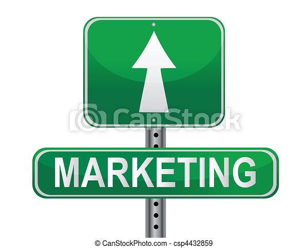 Signo de estrategia de mercado - csp4432859