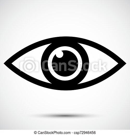 Signo de icono ocular aislado en el fondo blanco, ilustración vectorial - csp72946456