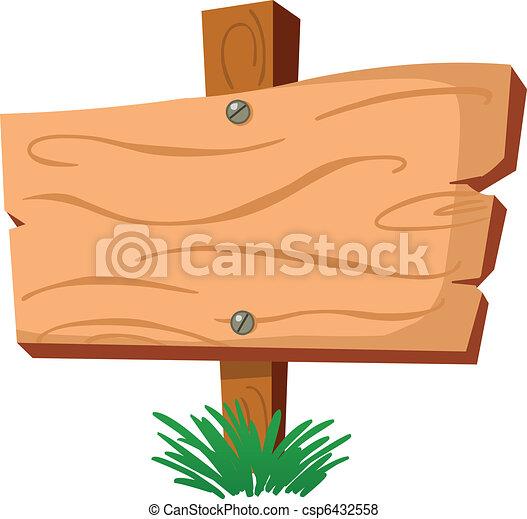 Signo de madera - csp6432558
