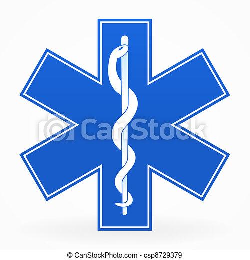 Signo médico azul - csp8729379