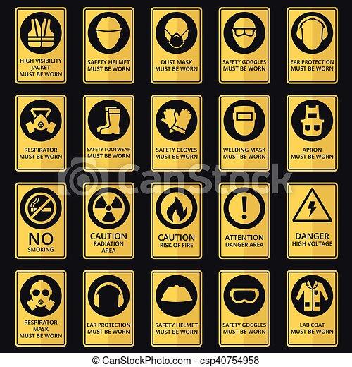 Signos de salud y seguridad. El equipo debe ser usado - csp40754958