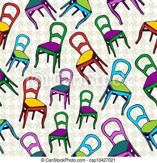 Sillas de vintaje, patrones de fondo sin mancha. - csp10427021