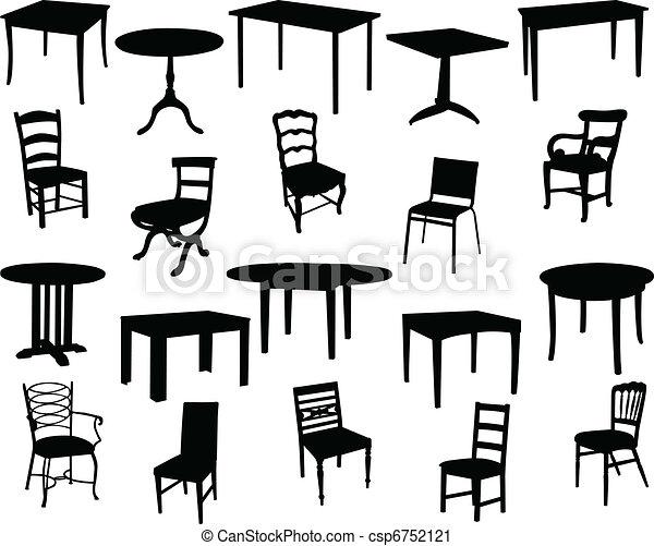 Tables y sillas - csp6752121