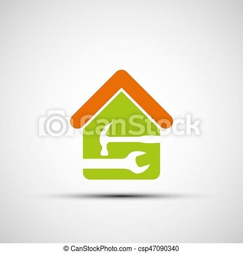 Silueta de una casa - csp47090340