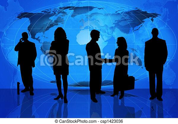 Silueta profesional de los negocios - csp1423036
