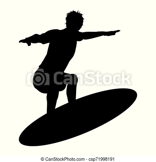 Silueta Surfer - csp71998191