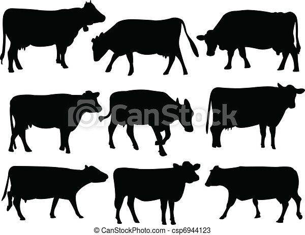 Vaca silueta - csp6944123