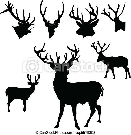 Deer silueta - csp5578303