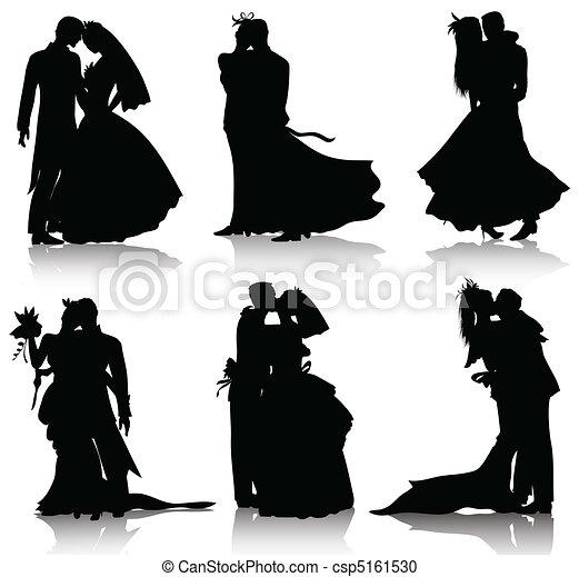 Siluetas de boda - csp5161530