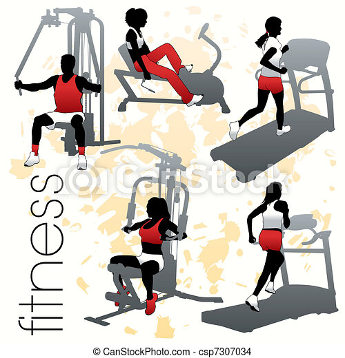 Fitness siluetas puestas - csp7307034