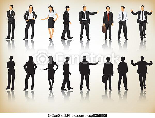 Siluetas de negocios - csp8356806