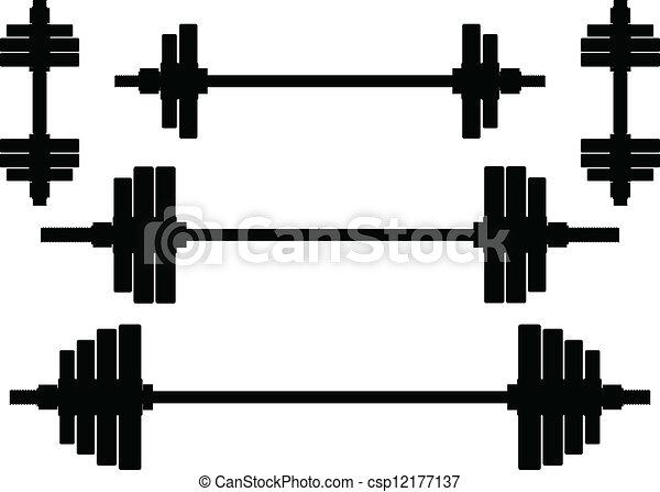 Siluetas de pesas - csp12177137