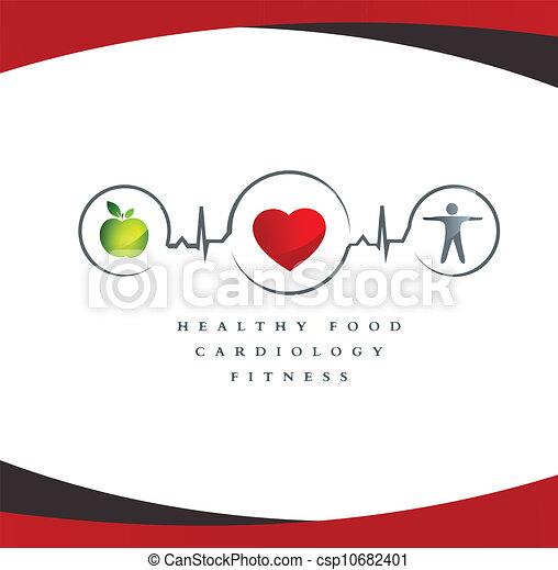 Simbolo cardíaco sano - csp10682401