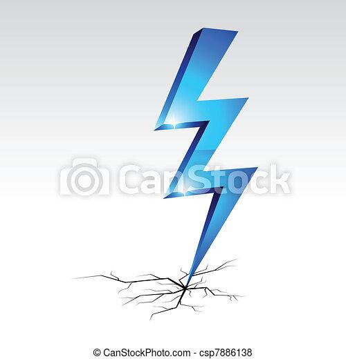 Simbolo de advertencia de electricidad. - csp7886138