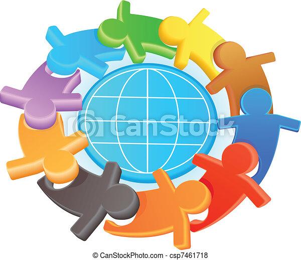 Simbolo de amistad y solidaridad - csp7461718