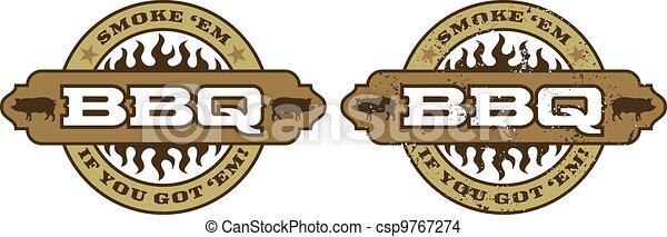 Simbolo de barbacoa/icon - csp9767274