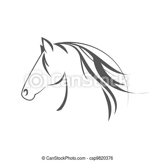 Simbolo de caballo - csp9820376