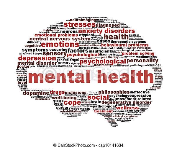 Simbolo de salud mental aislado en blanco - csp10141634