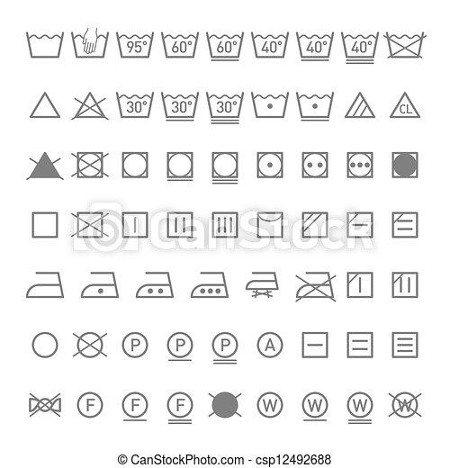 Simbolos de lavandería - csp12492688