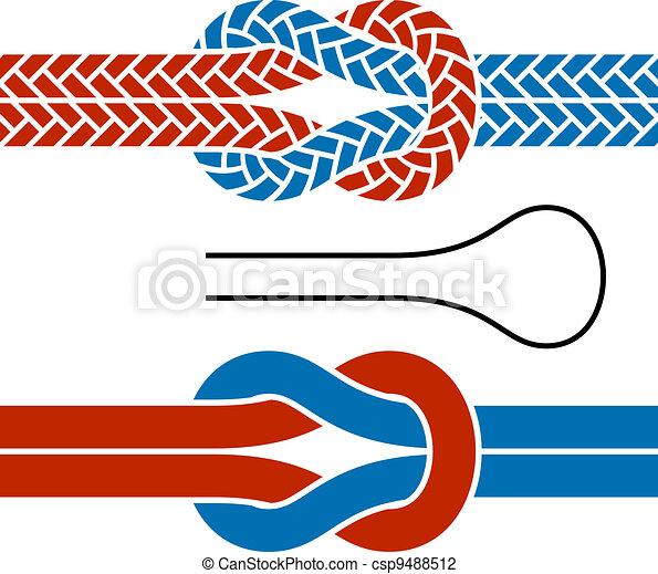 Simbolos de nudos de cuerda de vector trepando - csp9488512