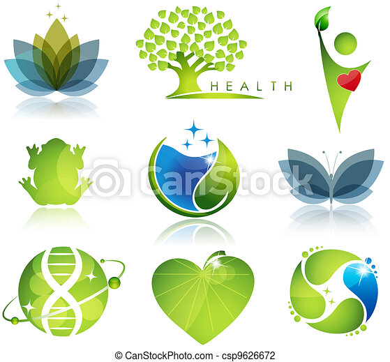 Simbolos de salud y ecología - csp9626672