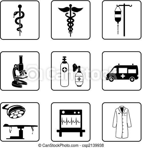 Simbolos médicos - csp2139938