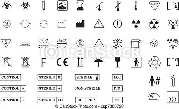 Simbolos médicos internacionales - csp7880720