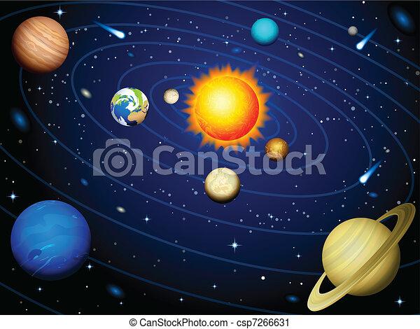 Sistema solar - csp7266631