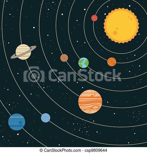 Ilustración del sistema solar - csp9809644