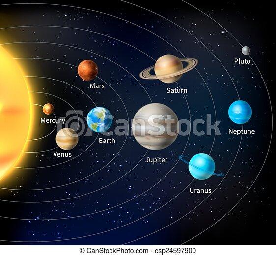 Trasfondo del sistema solar - csp24597900