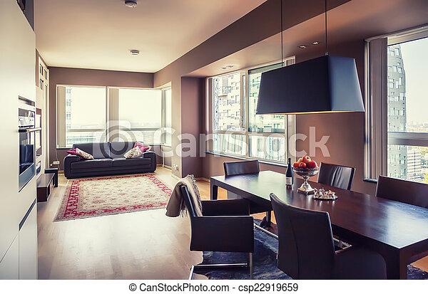 Sala de estar moderna - csp22919659